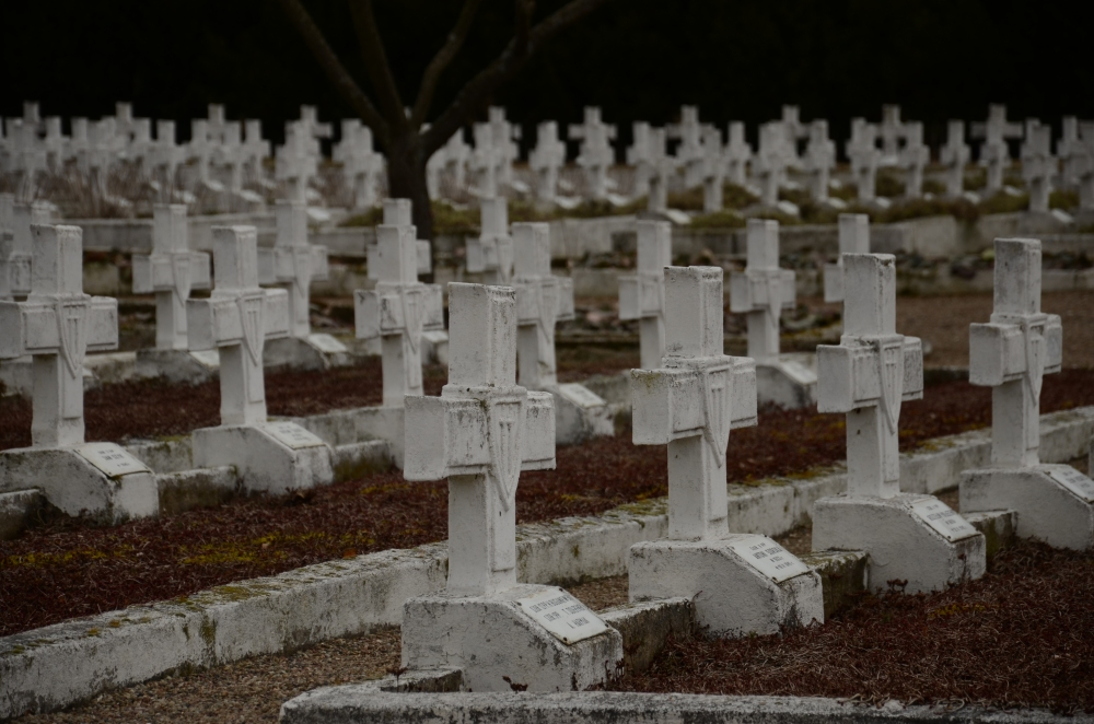 Polish Graves on the battlefield.