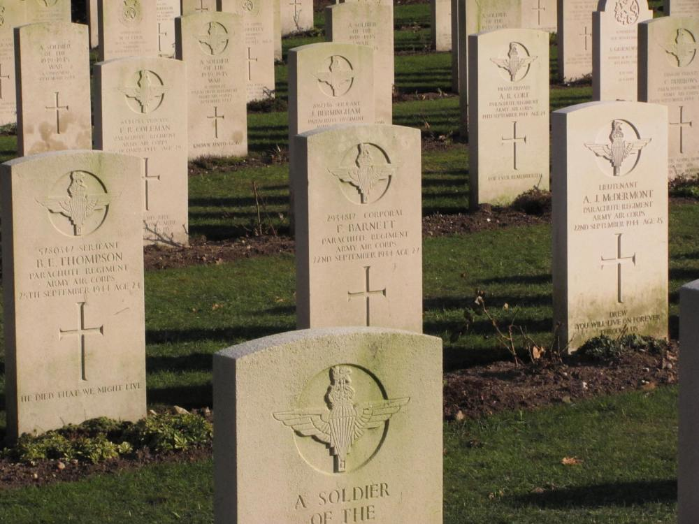 Airborne graves at Arnhem